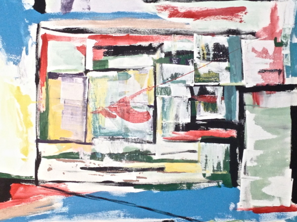 Painting, abstract, École d'art Pointe-Saint-Charles Art School