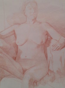 Nude drawing Froehlich