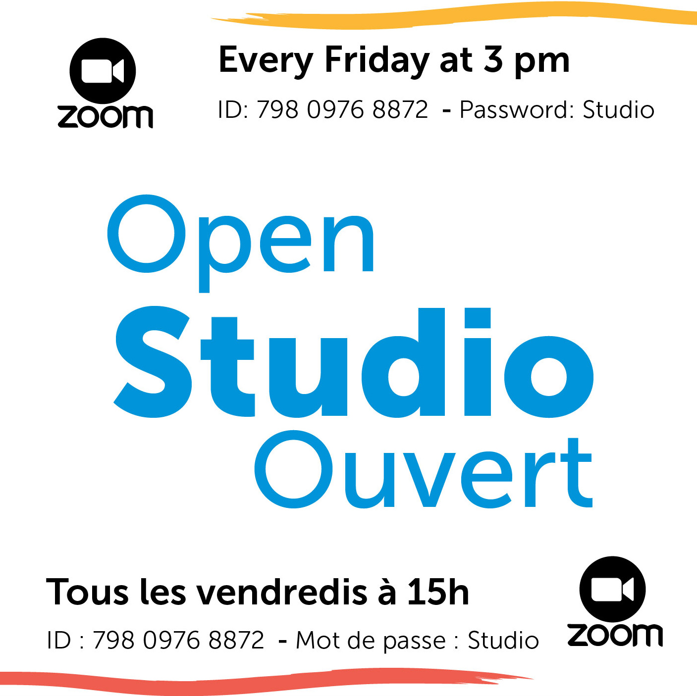 Join Us For Zoom Open Studio
