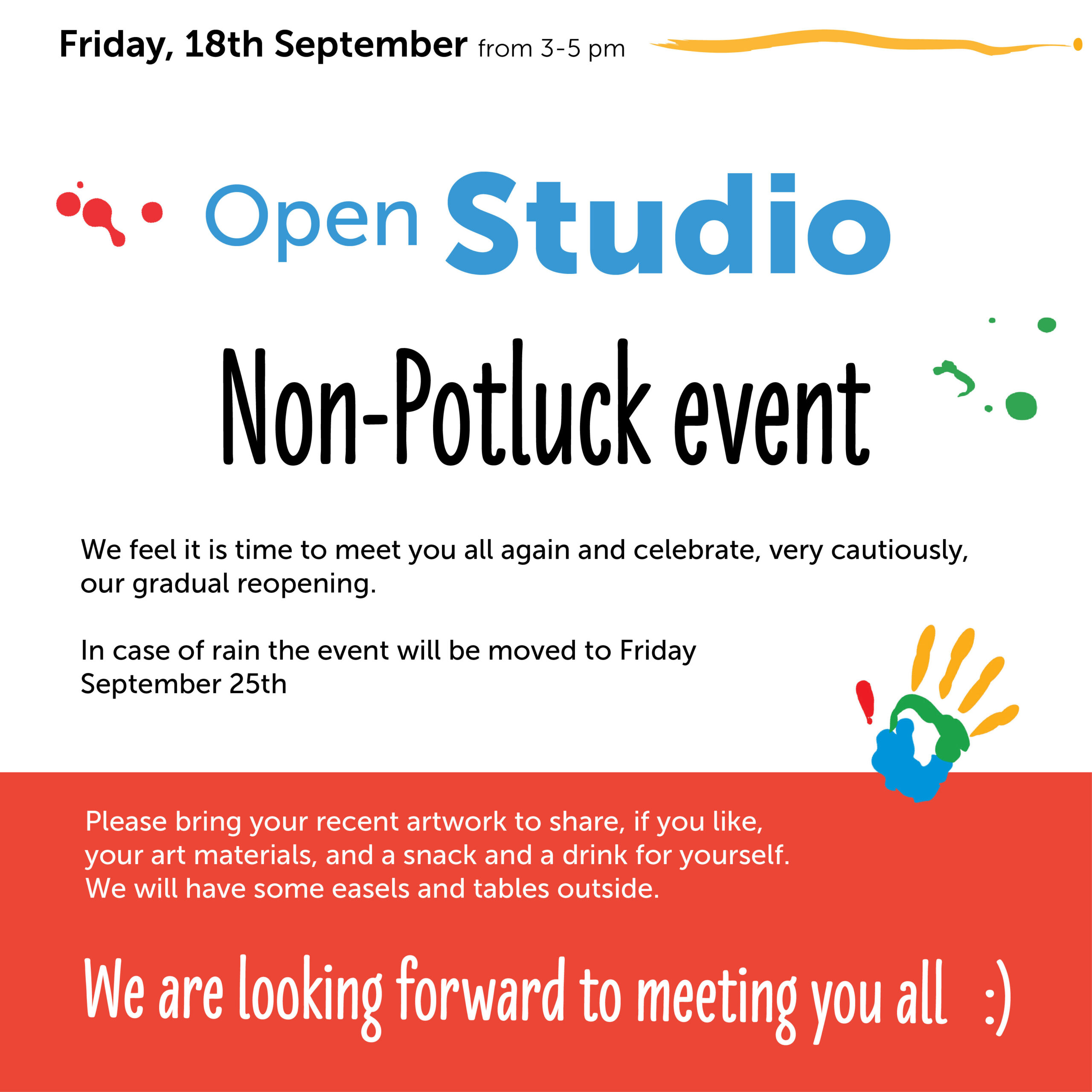 Open Studio - Friday, 18th September