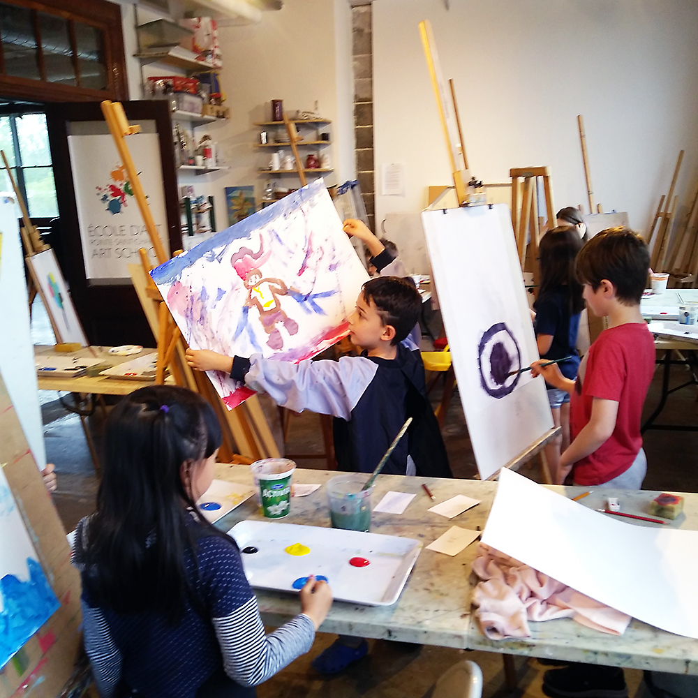 Children's painting studio