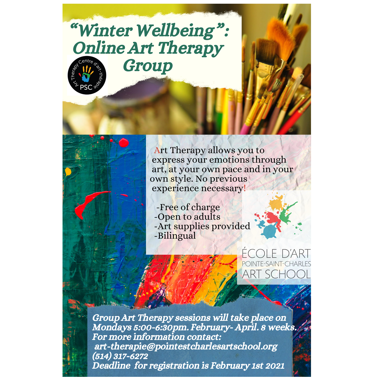 Winter Well-Being Online Art Therapy Group