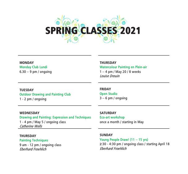 Spring Classes 2021